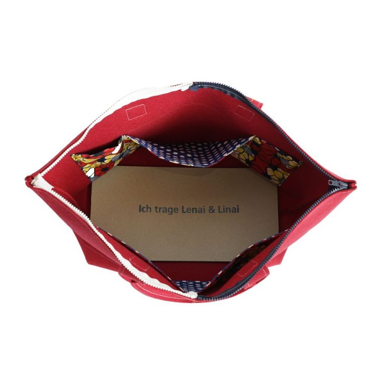 Tasche mit 2 Zipps groß